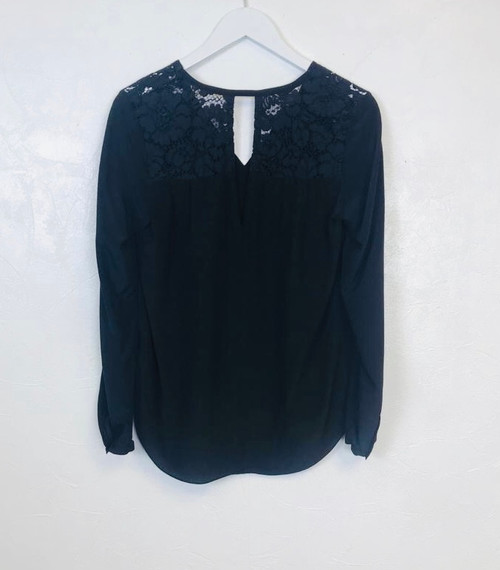 Rebecca Taylor Lace Yolk Blouse, Pre Owned Designer