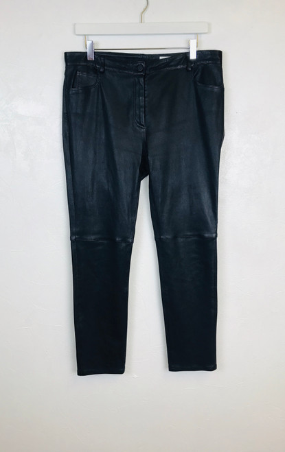 Nicole Farhi Leather Trousers, Pre Owned Designer