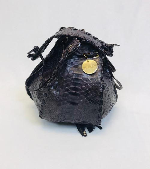 Roberto Cavalli Python Bag, Pre Owned Designer