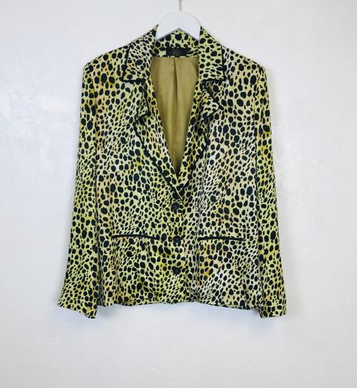 Vali Leopard Print Jacket. Pre-Owned Designer