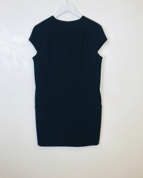 Victoria Beckham Navy Wool Dress. Pre-Owned Designer