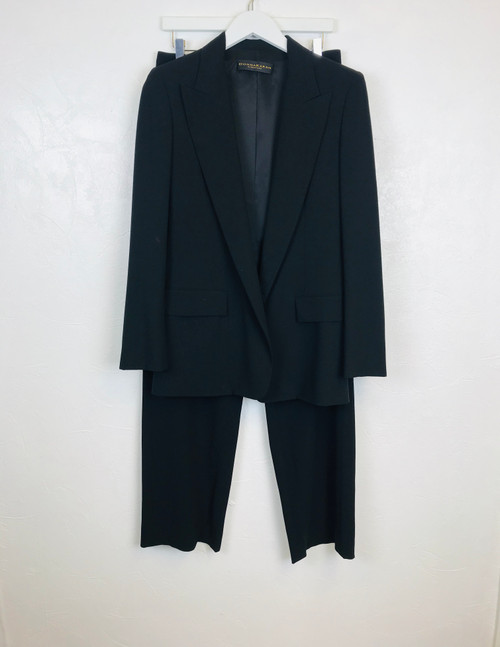 Donna Karan Wide leg trouser suit.  Pre-Owned Designer