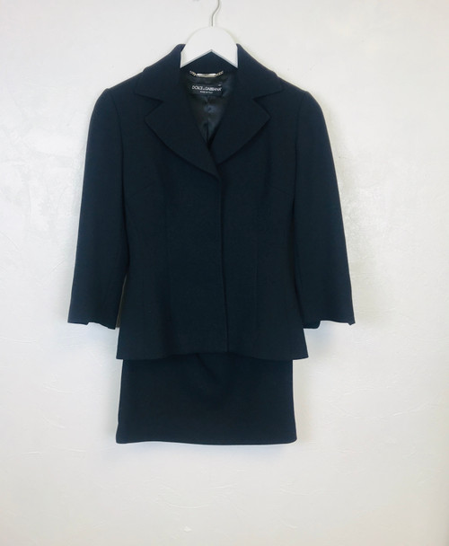 Dolce & Gabbana Black Skirt Suit . Pre-Owned Designer
