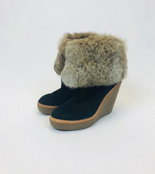 Ash Wedge Ankle Boots. Pre-Owned Designer.