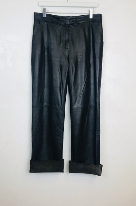 COS Leather Trousers. Pre-Owned Designer.
