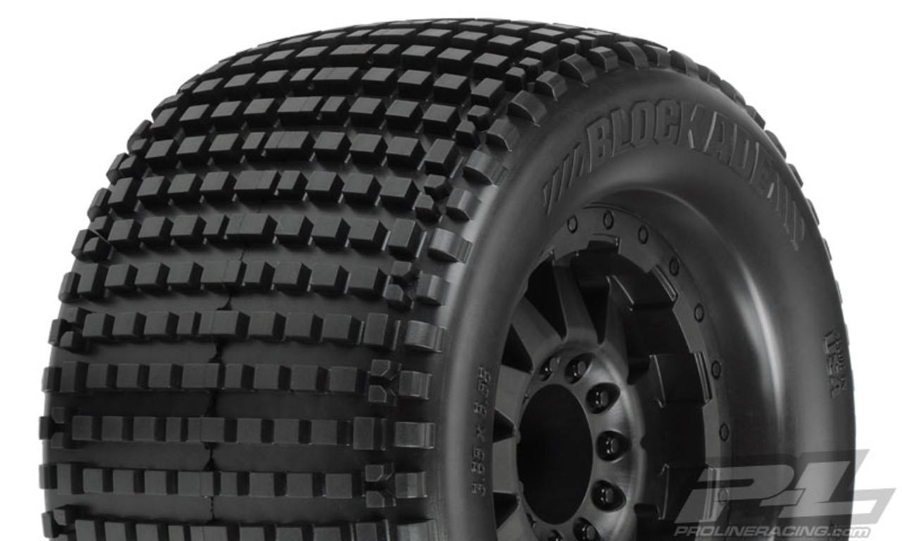 "Blockade 3.8"" (Traxxas Style Bead) All Terrain Tires Mounted 2PCS"