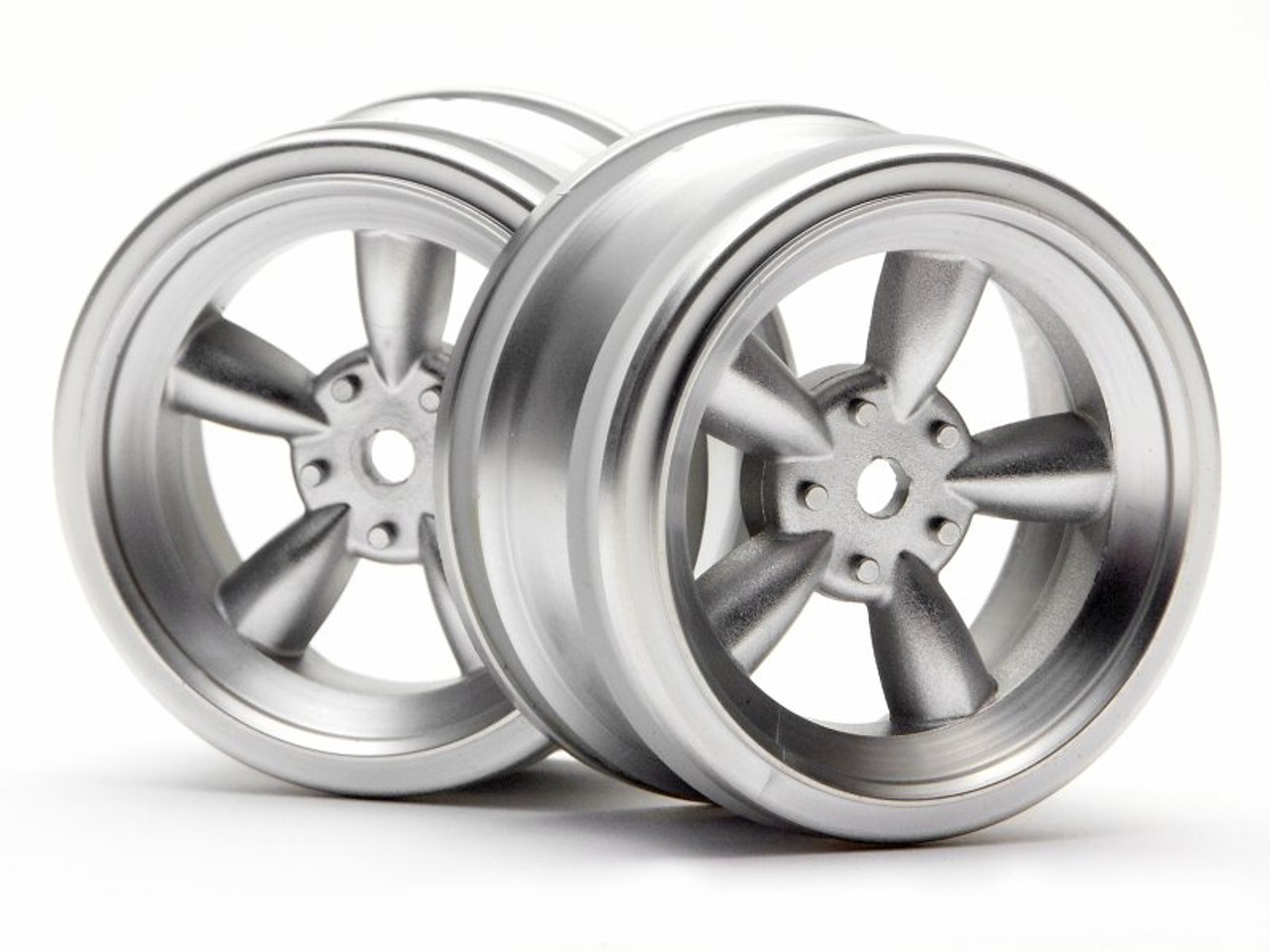 HPI 3815 - Vintage 5 Spoke Wheel 26mm Matte Chrome 0mm Offset