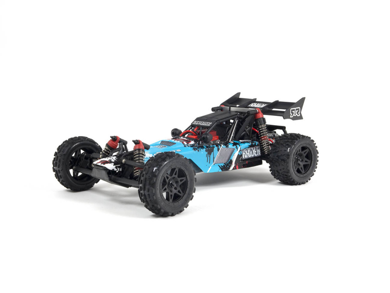 The ARRMA RAIDER Dune Buggy is built for extreme terrain and will also provide exciting performance during asphalt thrashing RC sessions.