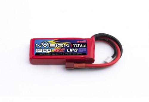 nVision Lipo 1900mah 11.1v 30c 3s Deans