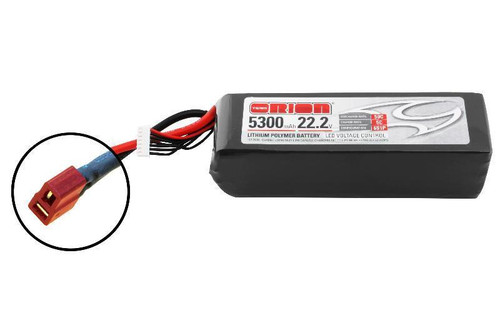 Team Orion Lipo 5300 6S 22.2V 50C Deans Battery Overview  Knowing the charge status of your LiPo batteries is important but it also requires that you have the equipment with you to do it. To make your life easier, we have designed a simple LED voltmeter and integrated it directly into the LiPo battery design. This way you don't have to worry about carrying extra electronics. To find out the charge status of your battery, simply press the button located on the circuit board and check the LED readout. The LED will indicate if the battery is fully charged, 75% charged, 50% charged (for storage) or empty. The latest lithium polymer battery technology has been used for this new range of softcase batteries. They can handle discharge rates of up to 50C and charge rates of up to 5C, offering outstanding performance for all applications