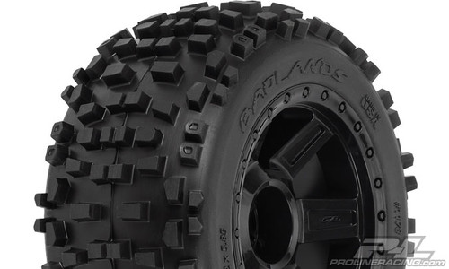 """Badlands 3.8"""" (Traxxas Style Bead) All Terrain Tires Mounted 2PCS"""