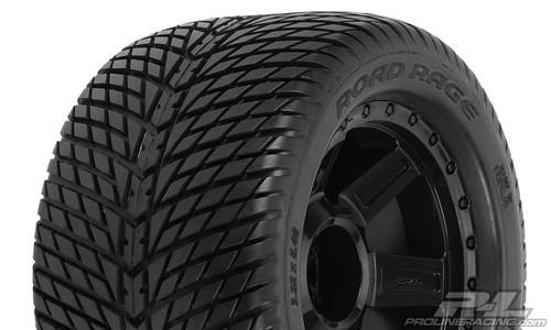 "Road Rage 3.8"" (Traxxas Style Bead) Street Tyres Mounted 2PCS"