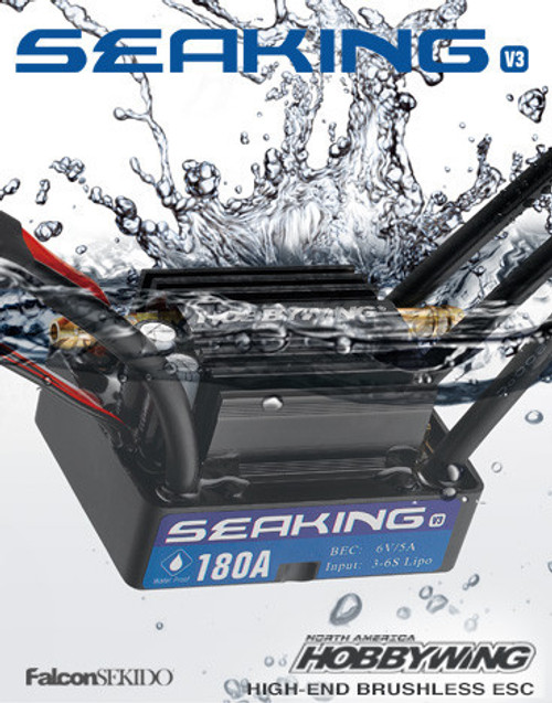 Hobbywing Seaking 180A-V3 Waterproof Brushless ESC