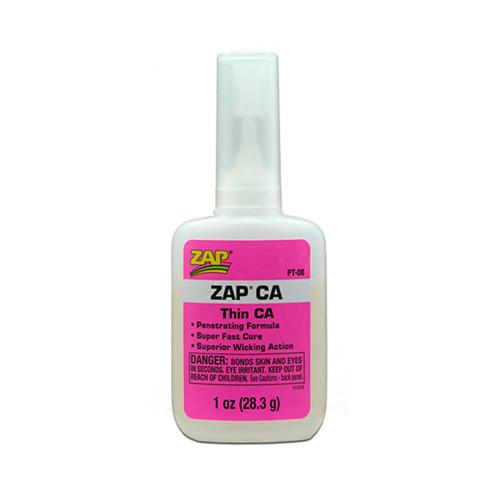 ZAP CA Pink Thin Viscosity 28.3g (1oz) Adhesive