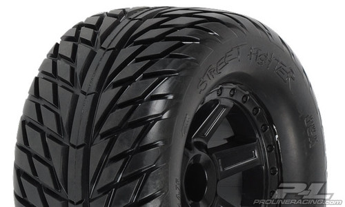 "Street Fighter 2.8"" (Traxxas Style Bead) Street Tyres Mounted 2PCS"
