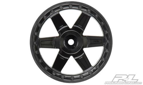"Desperado 2.8"" (Traxxas Style Bead) Black Wheels 2PCS"