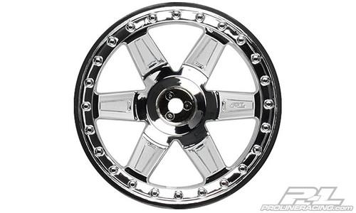 """Desperado 2.8"""" (Traxxas Style Bead) Chrome Wheels 2PCS"""