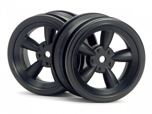 HPI 3815 - Vintage 5 Spoke Wheel 26mm Black 0mm Offset