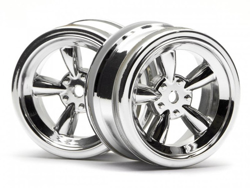 HPI 3817 - Vintage 5 Spoke Wheel 26mm Chrome 0mm Offset