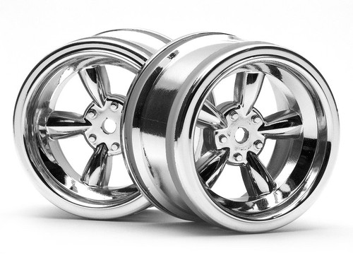 HPI 3822 - Vintage 8 Spoke Wheel 31mm S/Chrome 6mm Offset