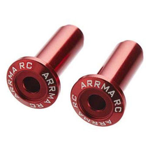 ARRMA 320186 Wheelie Bar Axle Aluminium Red (2)