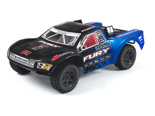 Multi-spoke black wheels, combined with high-traction dBoots tyres, put you in control of a fully capable bashing truck that belies the awesome RTR price. Just add 4 AA batteries to the radio transmitter, charge the equipped vehicle battery, and you are ready for action.