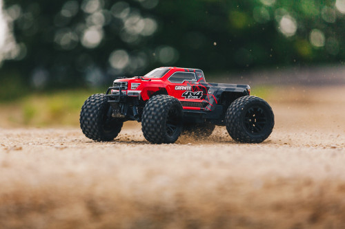 ARRMA GRANITE 4X4 MONSTER TRUCK, RED/BLACK WITH BATTERY & CHARGER