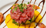 Tuna Tartare with Avocados and Blood Orange