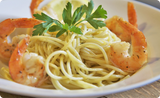 Shrimp Scampi Pasta with Santa Monica Seafood Scampi Butter