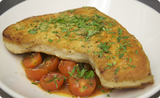 Pan Roasted Swordfish with Sauteed Tomatoes