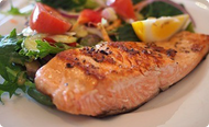Grilled Salmon with a Side of Salad
