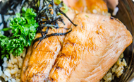 Pan Seared Salmon with Sake Glaze