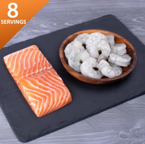 SMS Choice contents salmon shrimp
