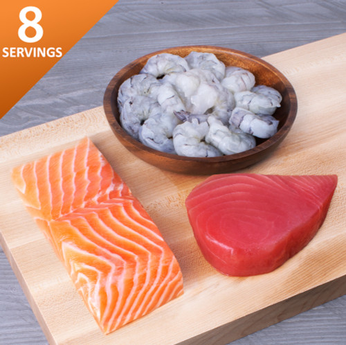 Brunos Box Salmon tuna shrimp