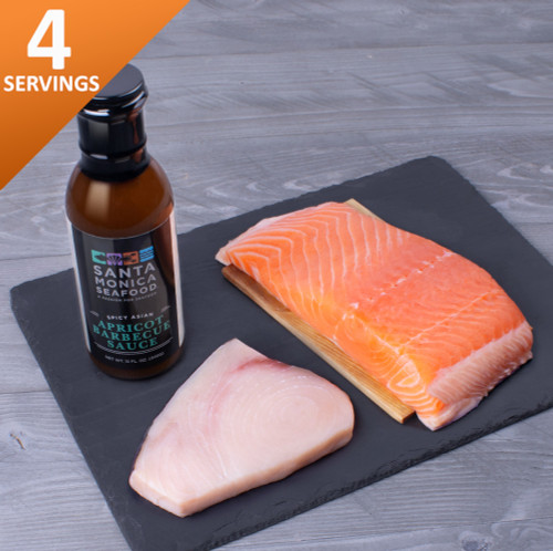 Chill by the grill contents salmon swordfish bbq sauce
