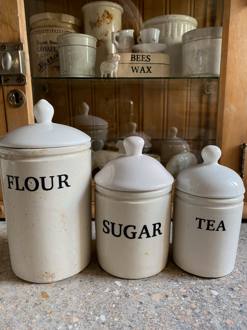 Cute English Pot Set with Lids-Sold