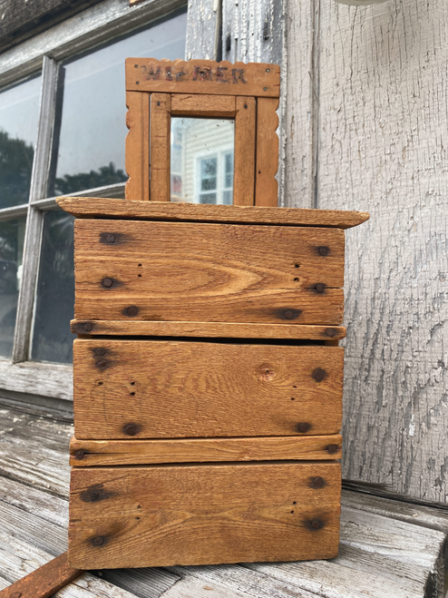 primitive salesman sample dresser