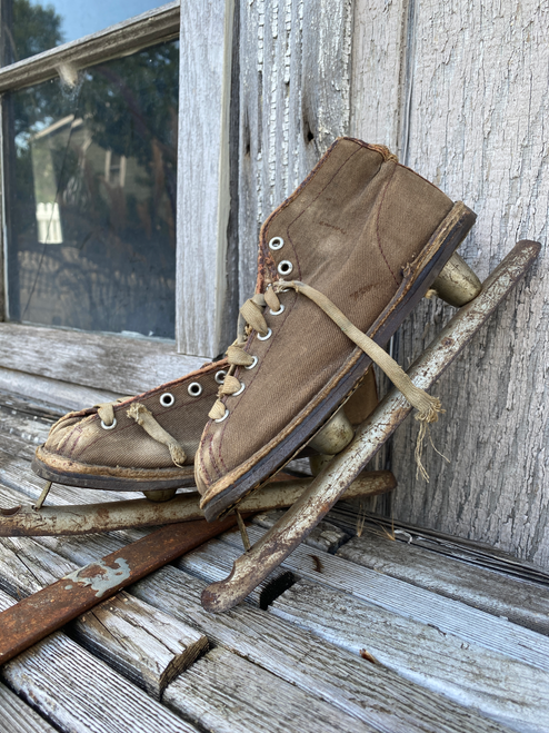 antique children's ice skates