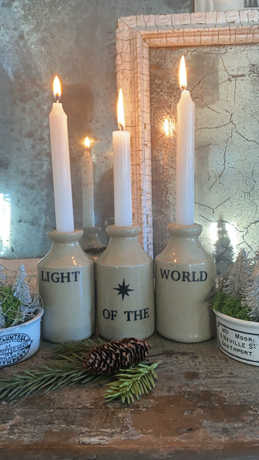 Light of the World on Antique Polish Pots-Sold Out