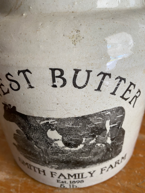 Extra Large Storage Lidded Crock-Butter-Sold