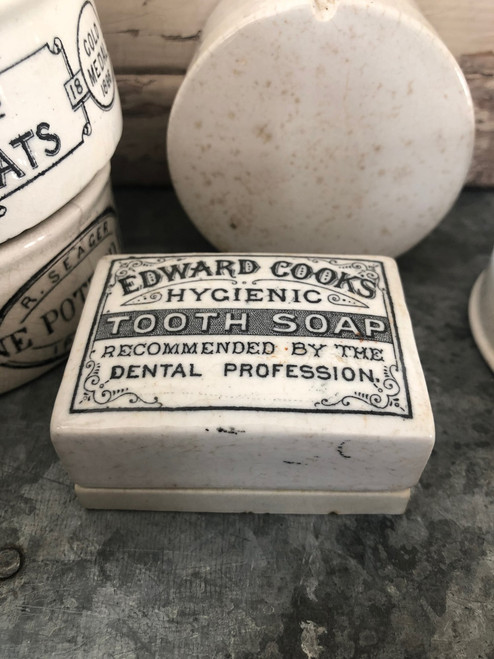 Edward Cooks tooth soap pot