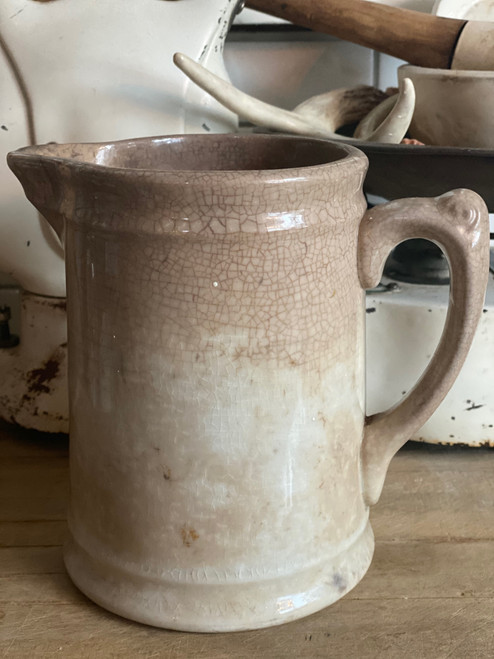 Crazed ironstone milk pitcher