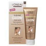 Loreal Sublime Glow for Face Daily Moisturizer & Natural Skin Tone Enhancer, Medium Skin Tones, SPF 15, 2.5 oz