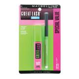 Maybelline Great Lash Waterproof Mascara with Define-A-Line Eyeliner- Very Black