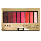 Loreal La Palette Lip 8-Pan Lipcolor Palette, Red