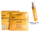 Loreal Sublime Bronze Self-Tanning Towelettes 6 count - Medium
