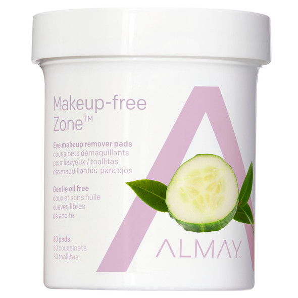Almay Oil Free Gentle Eye Makeup Remover Pads, 80 Ct.