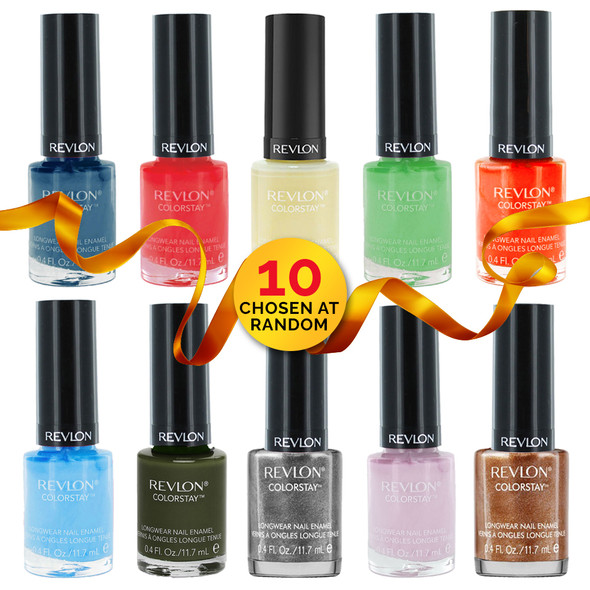 Revlon ColorStay Longwear Nail Enamel 10-Pack – Surprise Box