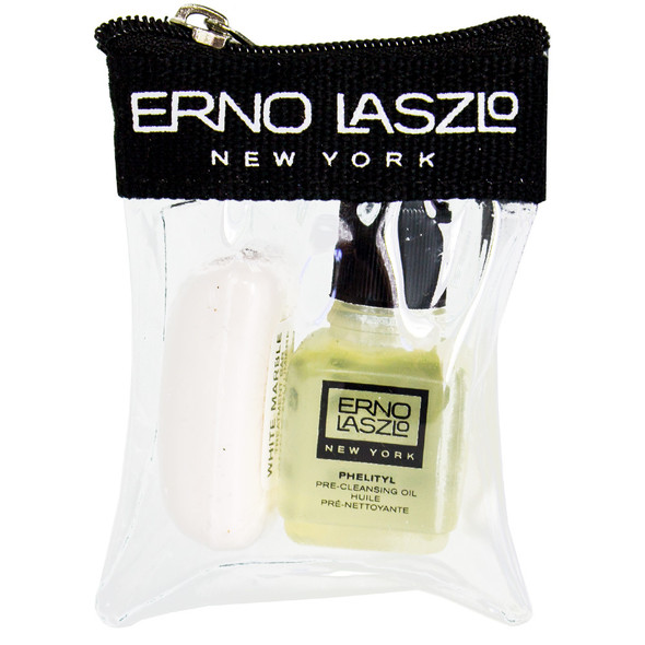 Erno Laszlo Phelityl Pre-Cleansing Oil & White Marble Treatment Bar Travel Set