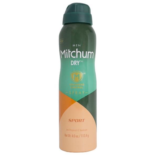 Mitchum Dry Men Advanced Control Anti-Perspirant & Deodorant Spray 4 oz, Sport